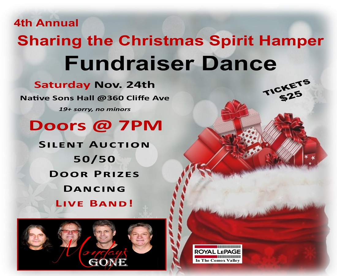 Christmas Fundraiser Flyer.4th Annual Sharing The Christmas Spirit Hamper Fundraiser Dance Whats On Digest